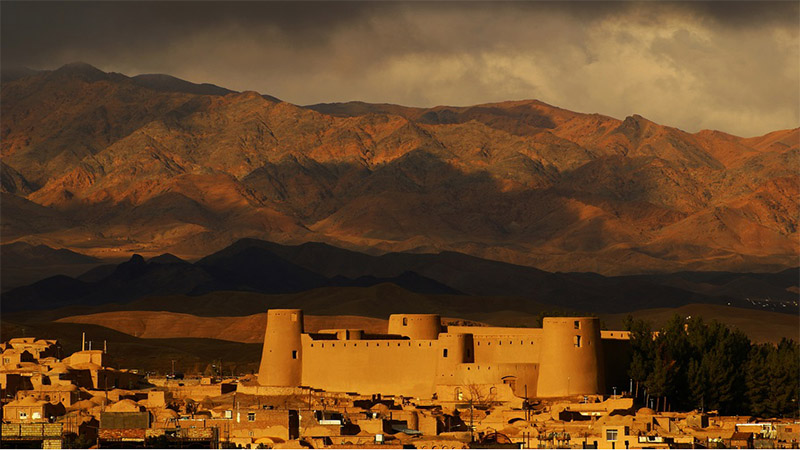 Birjand Citadel in Birjand City in South Khorasan in Cloudy Day