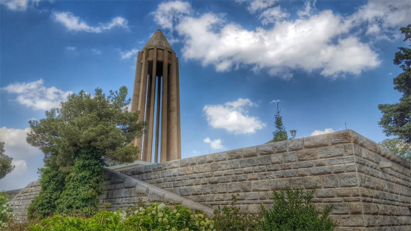 Mausoleum of Avicenna at nice weather in summer best time for travel to hamedan