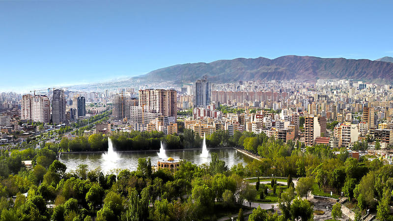 El Goli Garden With Small Lake in Around at the neat Day in Tabriz West Azerbaijan
