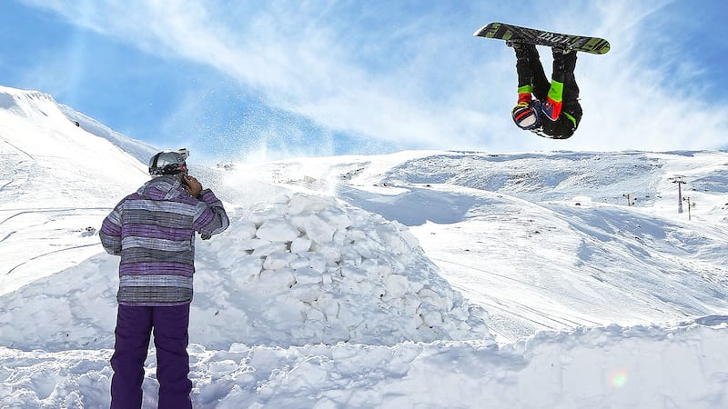 Dizin Ski Resort Snowboard with Exciting Sporty day near Tehran