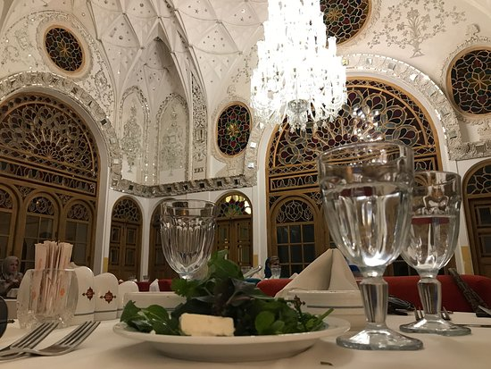 iranian artwork at Mirrors Hall Restaurant Kashan