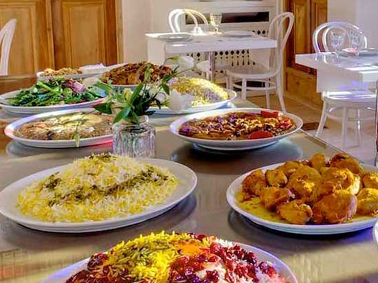 traditional iranian foods in Manouchehri House Restaurant
