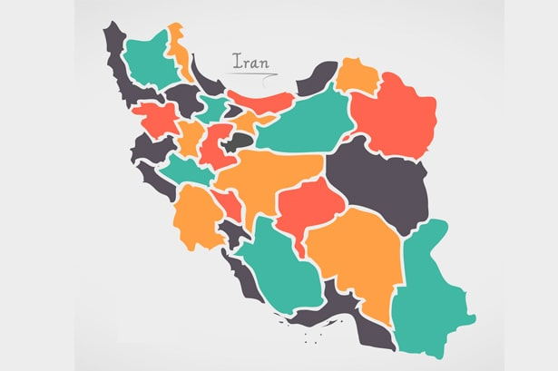 iran travel guide map