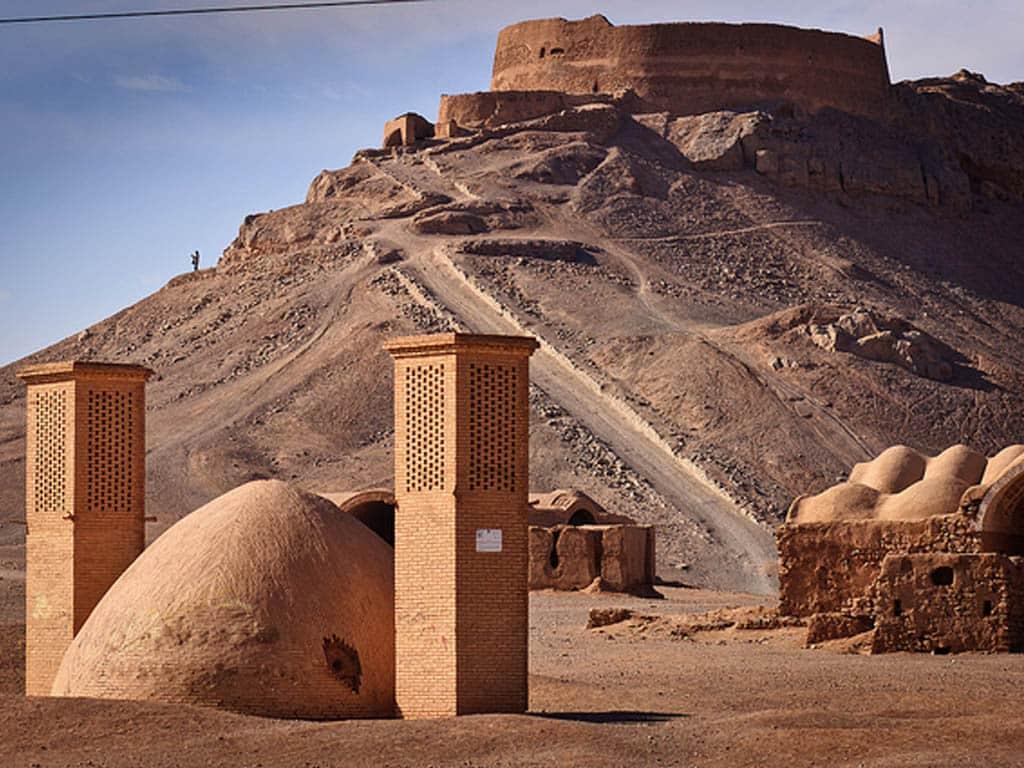 tower of silence yazd iran
