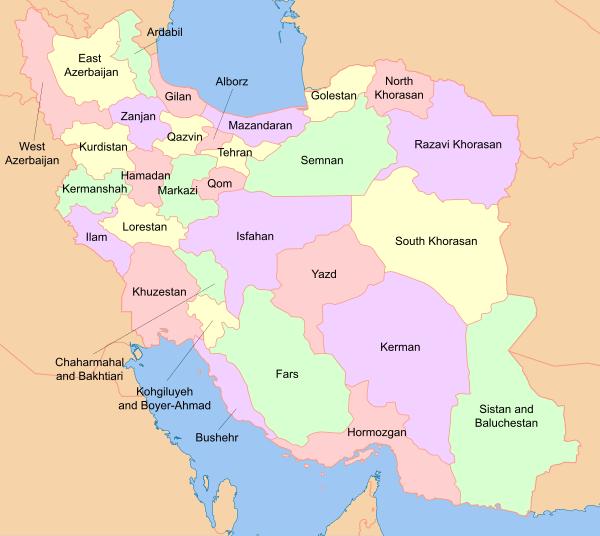 Iran Provinces Map