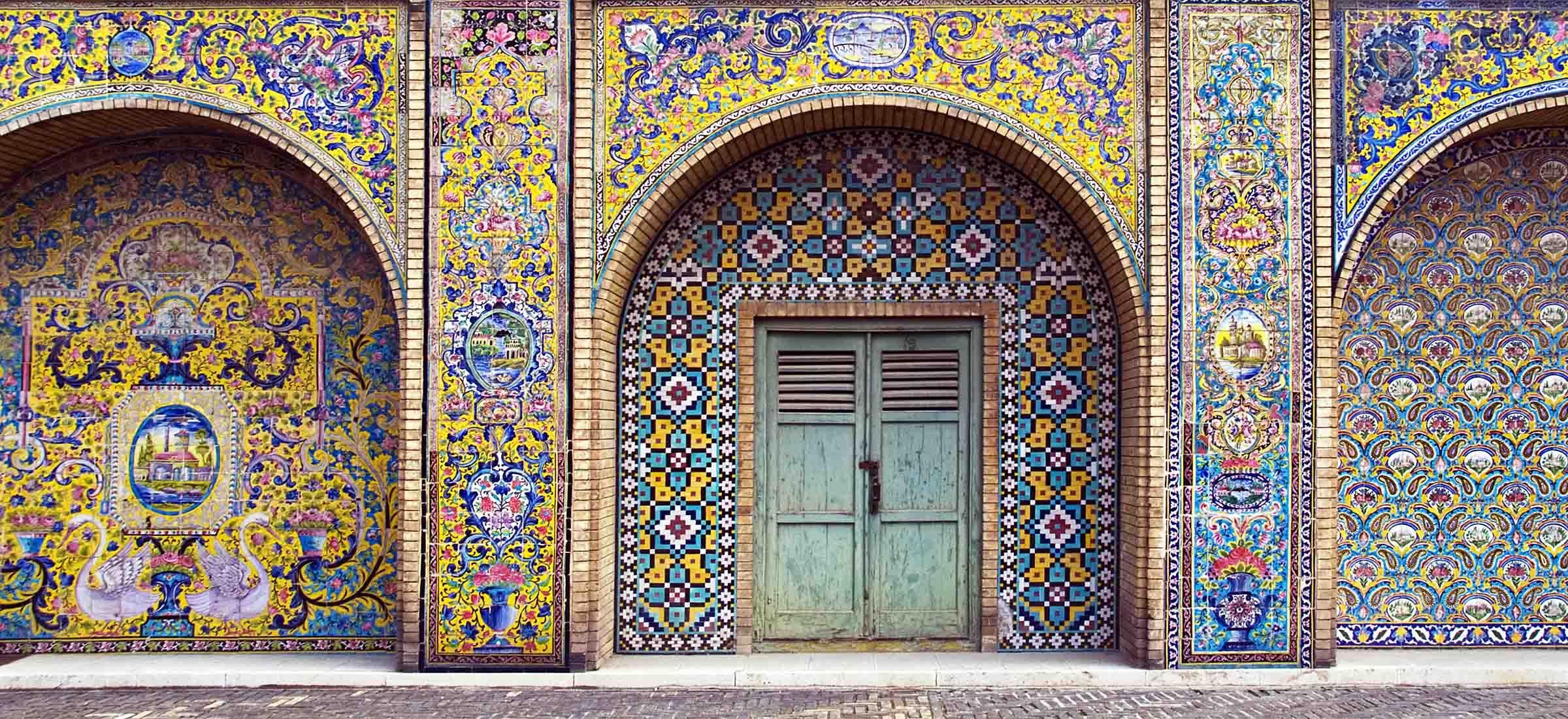 Iranian architecture and art in Golestan Garden