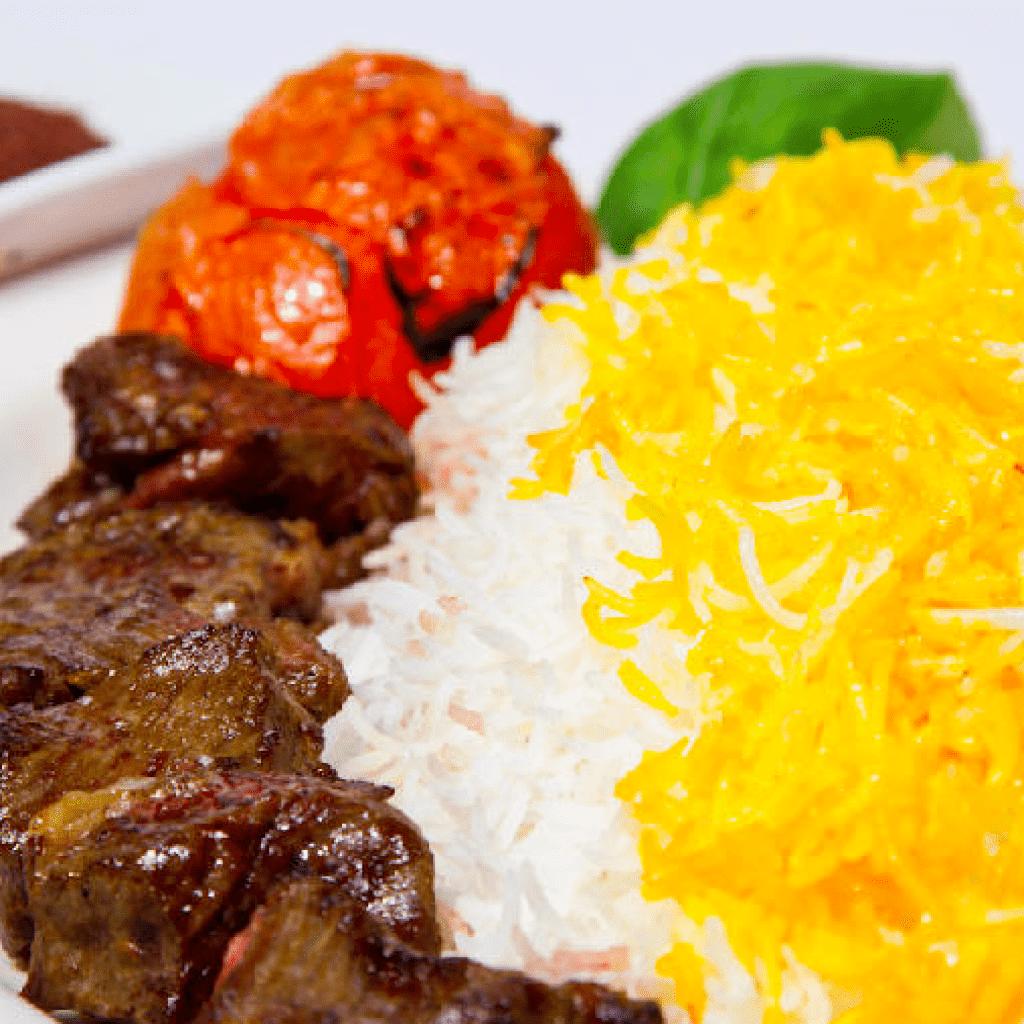 Iranian traditional image of kabab chenjeh