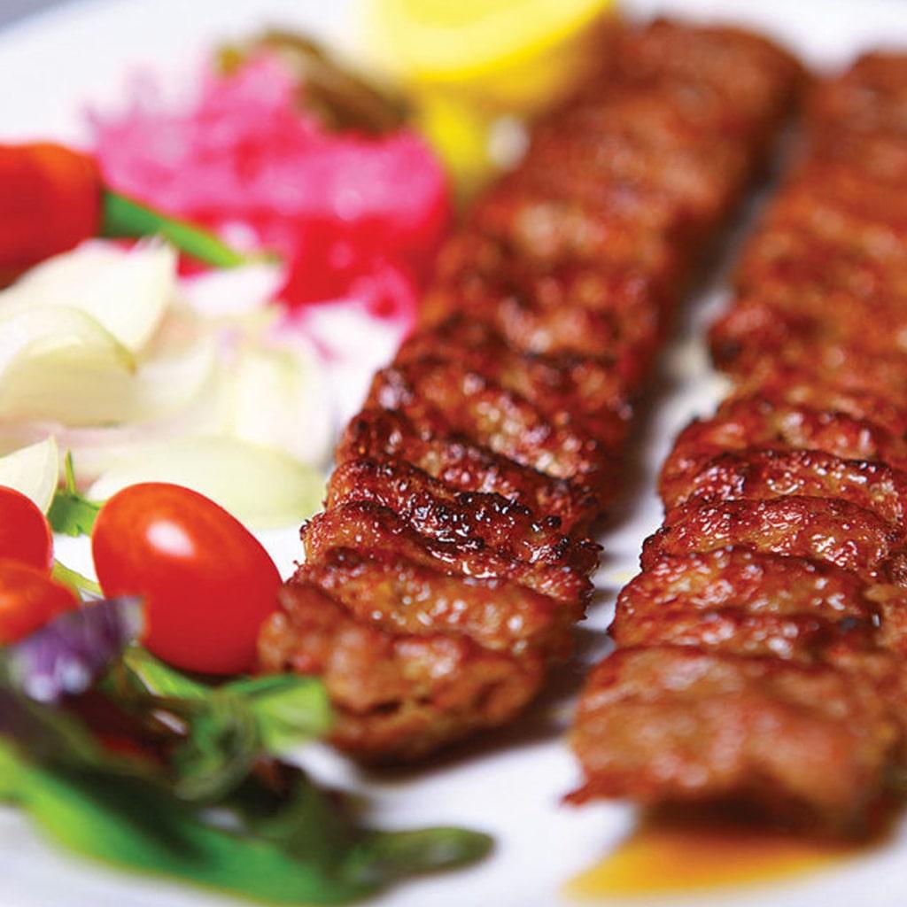Iranian traditional image of kabab koobideh