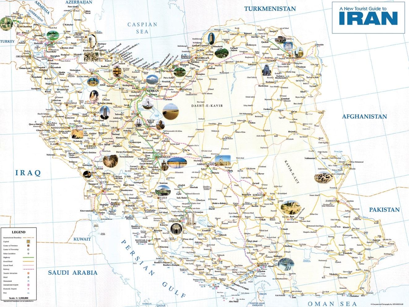 Map of Iran Cities