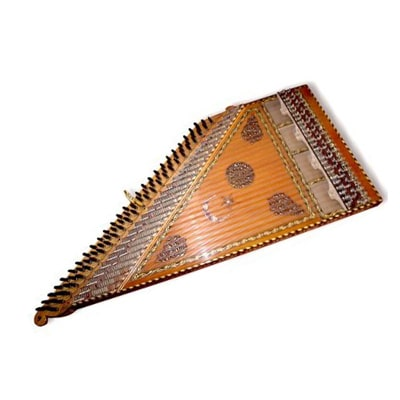One of the traditional Persian musical instruments Ghanoon