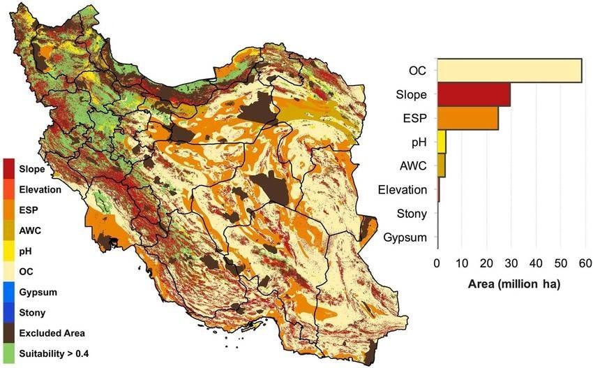 Soil Salinity Map of Iran