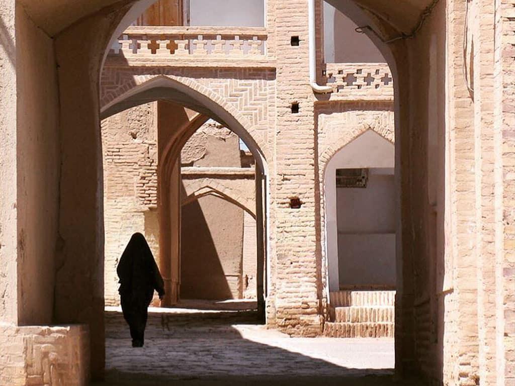 Alleyways in the old city of Yazd