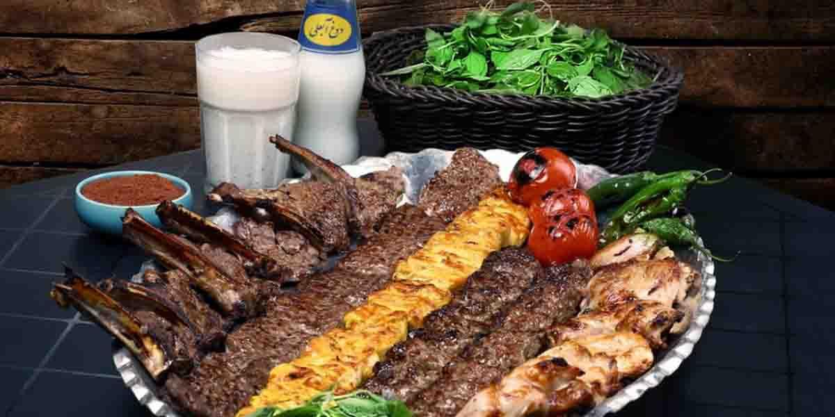 iranian food Kebab (lamb, chicken, minced meat, etc.)