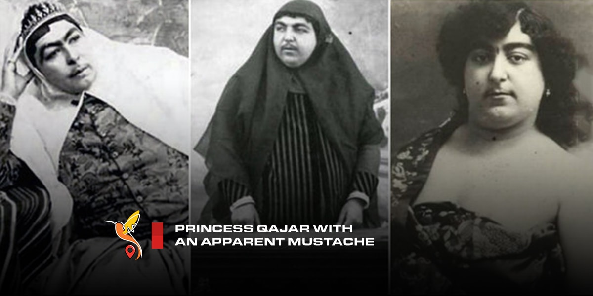 Princess-Qajar-with-an-apparent-mustache