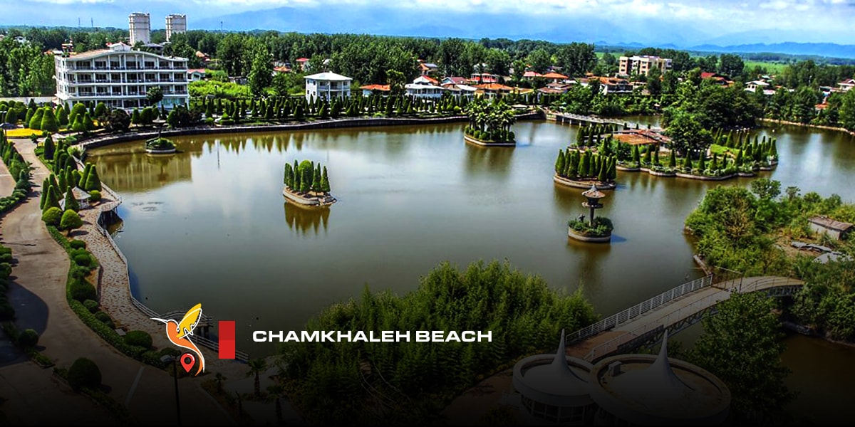Chamkhaleh beach in gilan province the safest beach