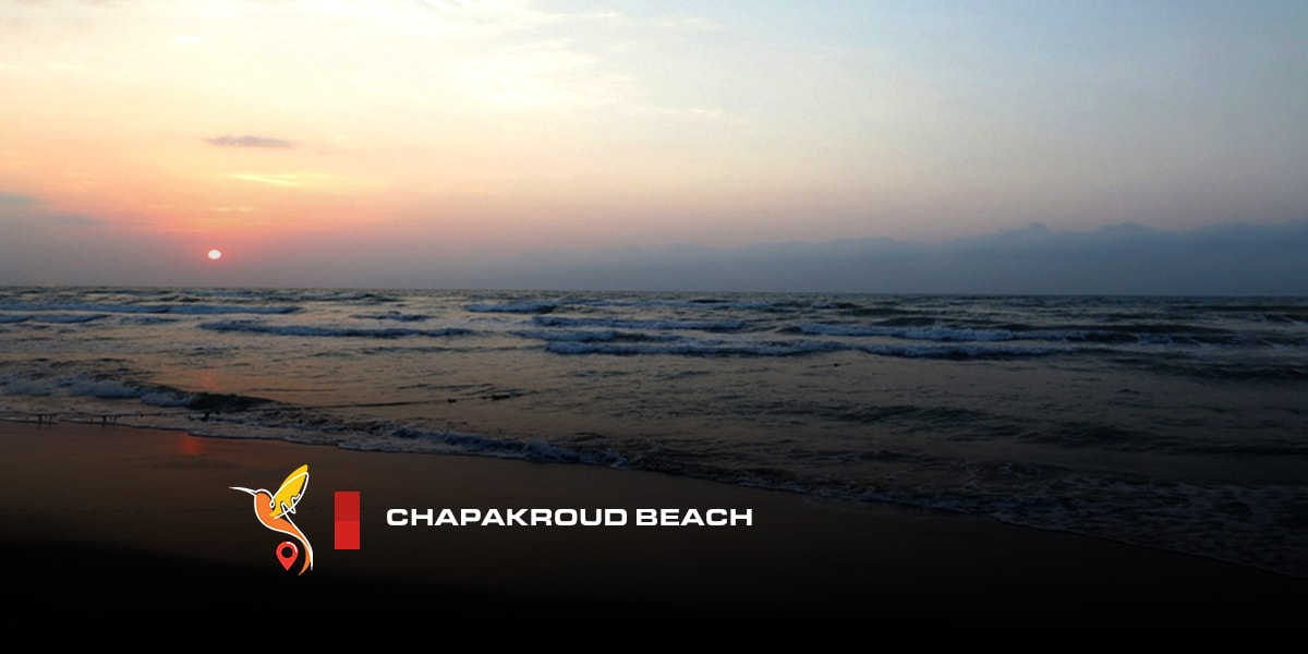 Chapakroud beach in sunset in the evening