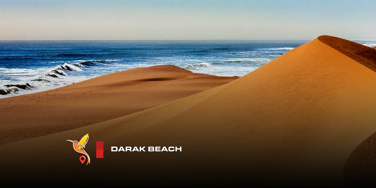 Darak beach and desert seaside in chabahar