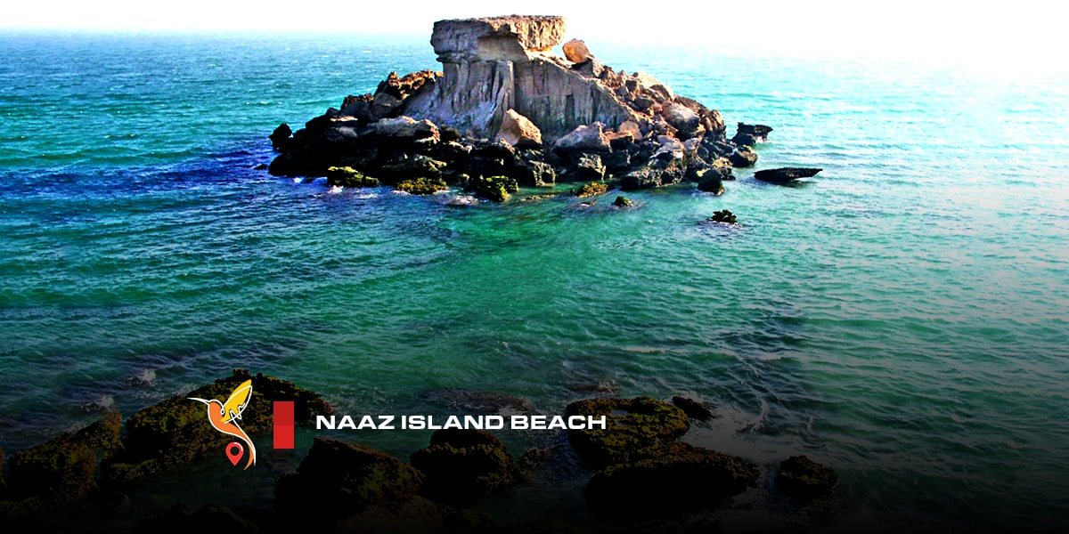 Naaz island beaches in persian gulf
