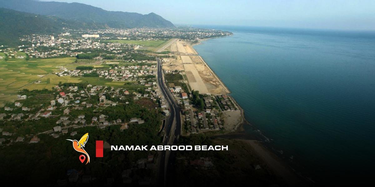 Namak abroud tourist beach in mazandaran
