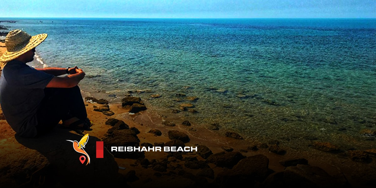 Reishahr beach in bushehr in south of Iran