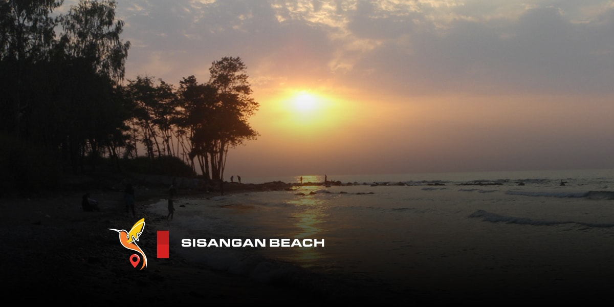 Sisangan beach and jungle in mazandaran province