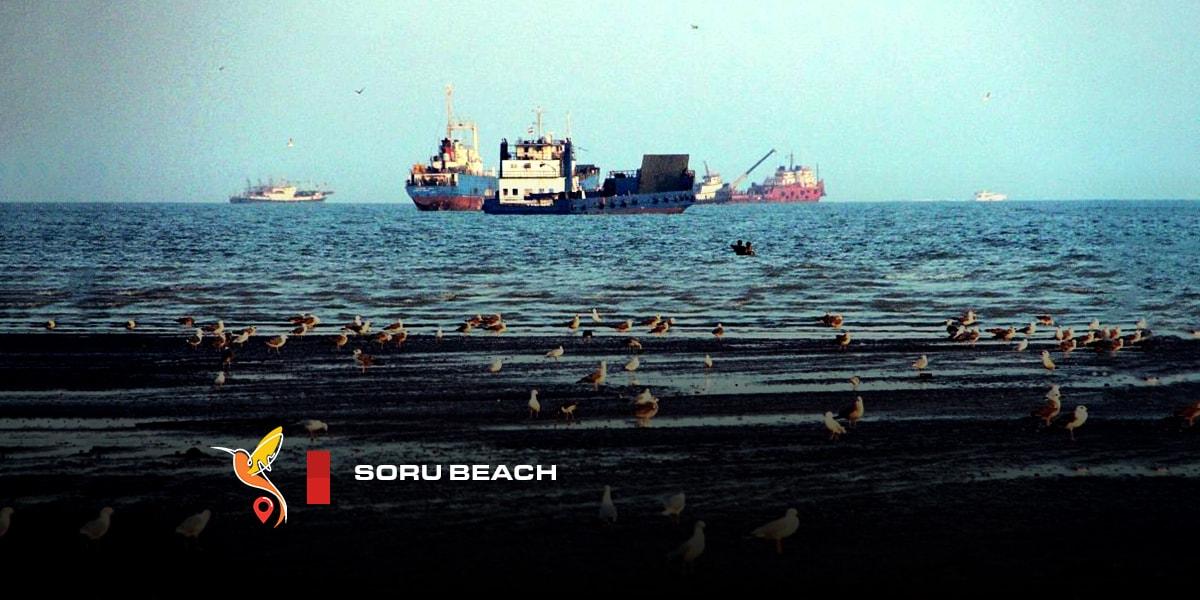 Soru beach in bandar abbas in hormozgan province