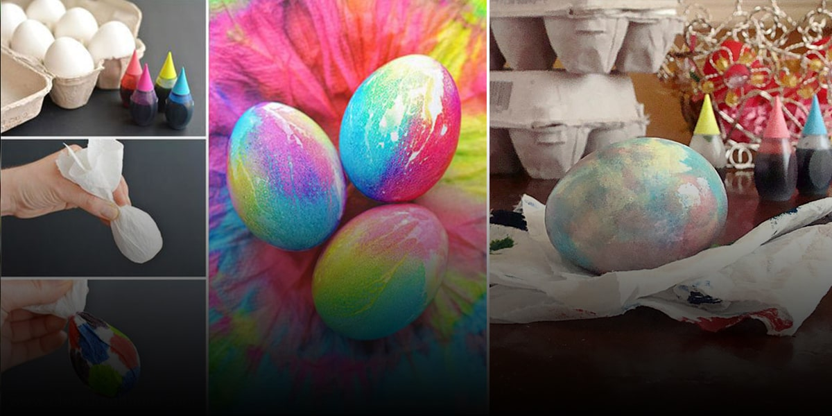 Coloring eggs with tissues or napkins)-min