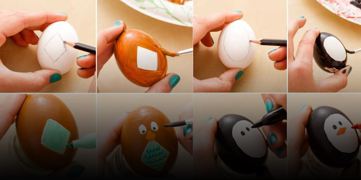 Use watercolor to color your Nowruz Eggs!