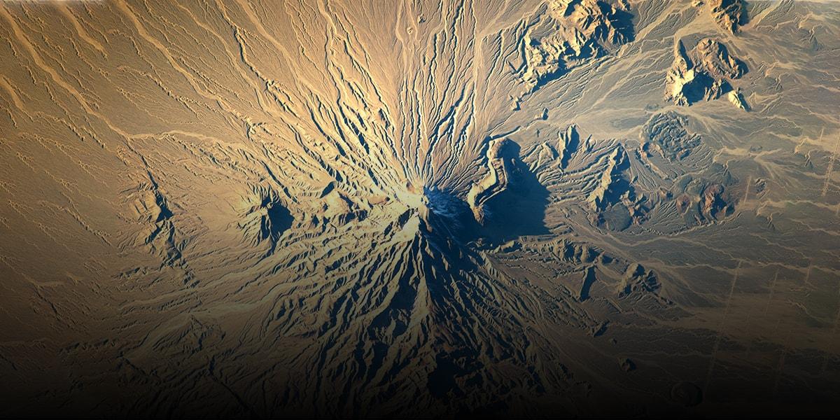 Overview of Volcanoes of Iran - Bazman-min
