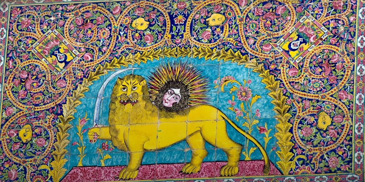 Flowers in Persian tile-working
